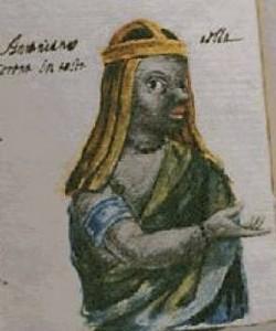Représentation contemporaine d'une adepte du courant de Kimpa Vita, l'Antonianisme