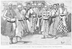 Guerrières fon, vers 1890