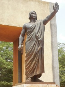 Statue de Béhanzin à Abomey