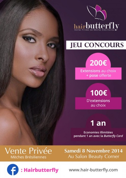 [JEU CONCOURS] HAIR BUTTERFLY