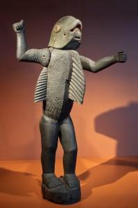 Statue de Béhanzin sous la forme d'un homme requin (par Sossa Adede, vers 1890)
