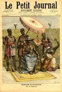 Le roi Ghézo entouré de Minos