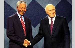 Mandela et F.W. De Klerk