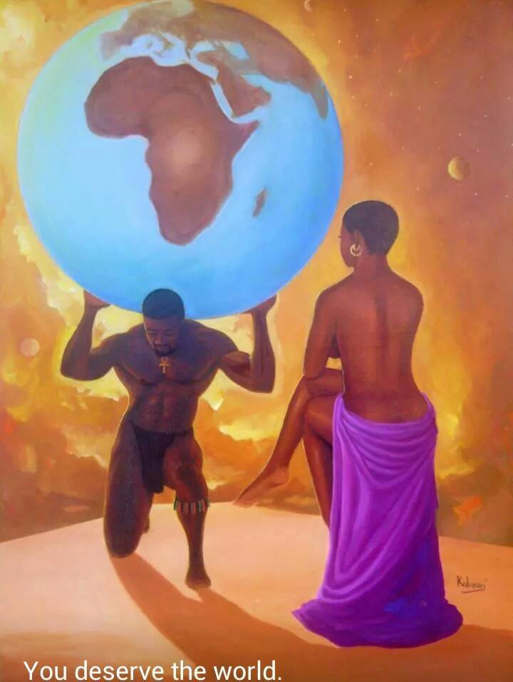 'You deserve the world' par Kolongi