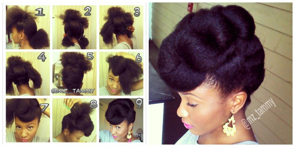 les tutos de la semaine 2 cinq id es coiffures pour les cheveux cr pus et fris s. Black Bedroom Furniture Sets. Home Design Ideas
