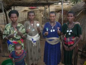 Femmes et enfant agaw, Ethiopie