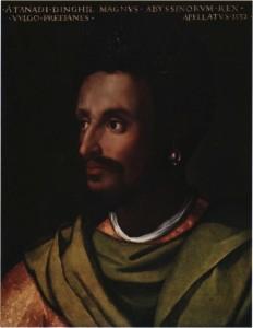 L'empereur abyssin Lebna Dengel peint l'Italien dell'Altissimo