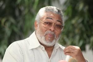 Jerry Rawlings, l'ancien président ghanéen de père écossais et de mère éwé