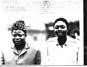 Pierre Mulele, à droite