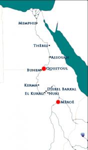 Les deux centres du pouvoir royal kouchite au 4ème siècle.   (© nofi.fr)
