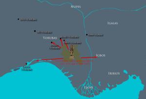 Carte schématisant les conquêtes de Benin sous Ewuare / © Sandro Capo Chichi pour nofi.fr