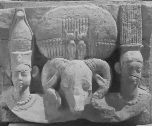 Les dieux Sébioumeker, Amon et Aresnouphis à Musawwarat em Sufra ( © Sudanarchäologischen Gesellschaft zu Berlin / Humboldt-Universität)