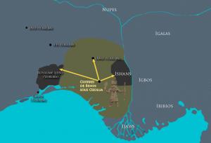 Carte schématisant les conquêtes de Benin sous Ozolua / © Sandro CAPO CHICHI pour nofi.fr