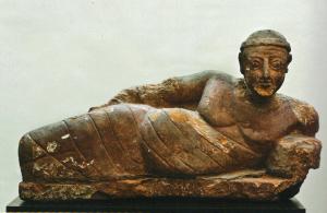 Statue d'un homme dans un bain à Méroé dans la pose gréco-romaine ( © Ny  Carlsberg Glyptotek)