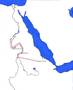 Carte de la campagne d'Ezana d'Aksoum en territoire kouchite ( © Sandro Capo Chichi / nofi.fr)