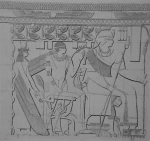 Reproduction  d'un relief de la chapelle funéraire de Shanadakheto