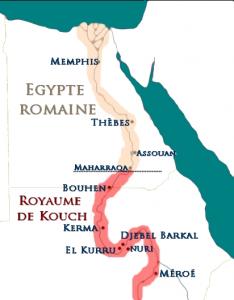 Carte de la Vallée du Nil après le traité de Samos en 20/21 ap. J.C.   (Sandro CAPO CHICHI /  nofi.fr)
