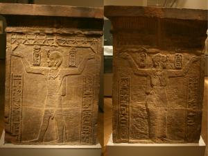 Le roi Natakamani ; La reine Amanitore (© Musée égyptien de Berlin)