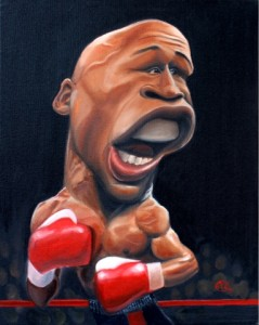 Caricature de Floyd Mayweather, Jr par carlitosart.blogspot.com