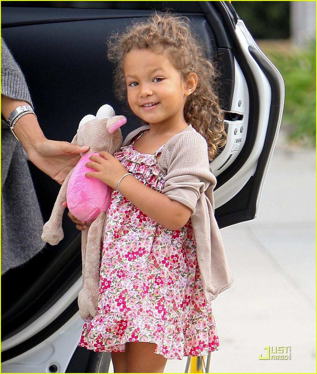 Very classy Halle Berry drops off adorable daughter Nahla at school in Hollywood CA