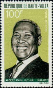 Albert Lutuli honoré par un timbre burkinabé