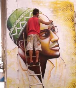 Amilcar Cabral au palais de la culture, Cap-Vert par Joel Bergner