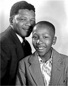 Mandela et son fils Thembi
