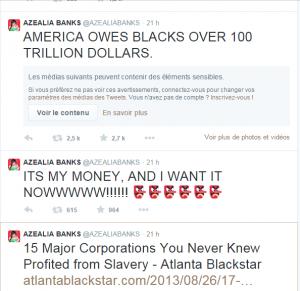 """""""L'Amérique nous doit plus de 100 trilliards de dollars"""". C'est mon argent et je le veux maintenant!!!!! (Un lien vers) 15 compagnies dont vous n'imaginiez pas qu'elles avaient profité de l'esclavage"""