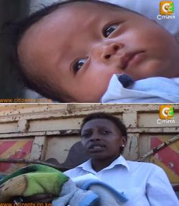 Patricia Nyeri et son enfant métisse