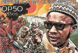 Timbre guinéen à l'effigie de Cabral