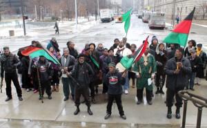 Activistes afro-américains à Cleveland, Etats-Unis