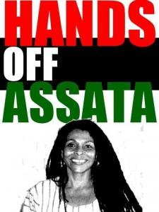 """Affiche d'""""Hands off Assata"""" (ne touchez pas à Assata), une campagne en ligne en défense d'Assata Shakur et son traitement par la justice US"""
