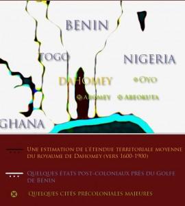 Carte du royaume de Dahomey par Sandro CAPO CHICHI