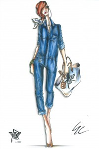 Tenue de Rihanna pour Armani Jeans (2011)