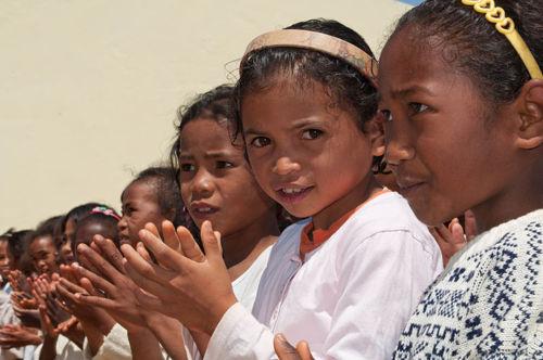 enfants malgaches d'ethnie merina