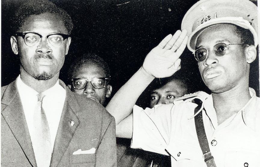 Lumumba et son ami Joseph-Désiré Mobutu