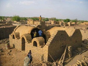 Constructions en voûte nubienne au Burkina / Photo : Voûte Nubienne