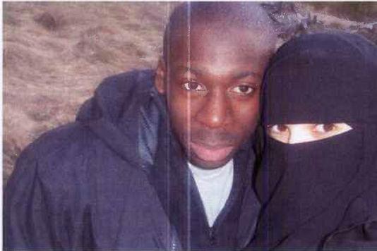Amedy Coulibaly et son épouse Hayat Boumédienne