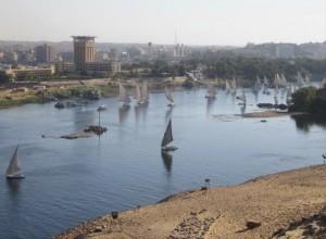 L'actuelle ville d'Assouan, Egypte