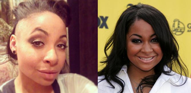 Raven-Symoné en 2014 et 2005