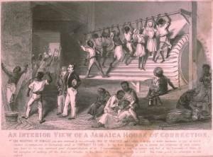 Intérieur d'une maison de correction d'esclaves en Jamaïque