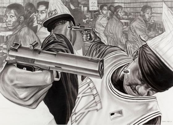 """""""Il ne peut y avoir d'unité entre Noirs et Blancs que s'il y a d'abord une unité entre Noirs. On ne peut songer à s'unir avec les autres qu'après que nous nous soyons unis nous-mêmes... On ne peut songer à être acceptables pour les autres avant qu'on ait été acceptables pour nous-mêmes."""" (Crédit Peinture : James Pate)"""