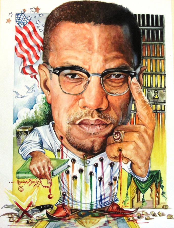 Malcolm X par Haydar Al-Yasiry