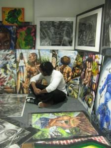 Alex L dans son atelier