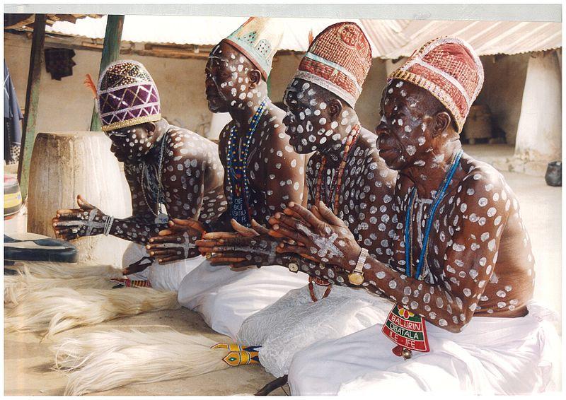 Adeptes d'Orishala, Ife, Nigéria
