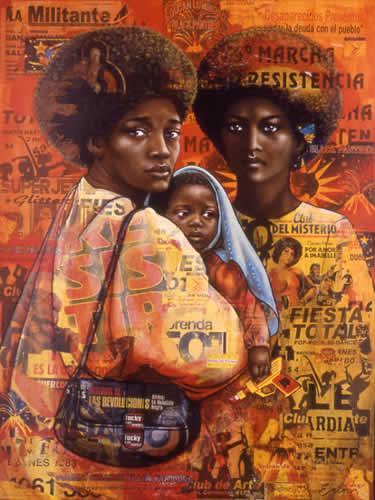 Black Panthers / Mères et martyrs des Amériques (Crédit Peinture : Erin Currier)