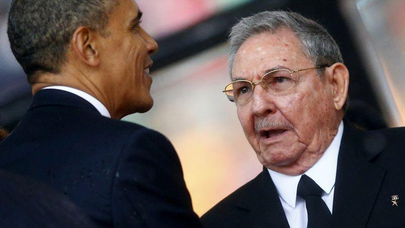 Barack Obama et Raul Castro en décembre dernier