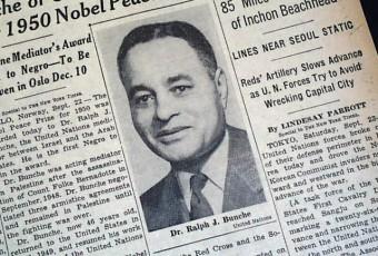 Ralph Bunche, premier afro-descendant Prix Nobel de la paix