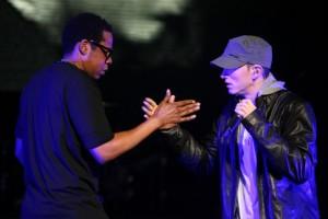 """(S'il y a quelqu'un dont je voudrais bien émuler la carrière, ce serait )Jay-Z.(...) Dans la société américaine, il faut être un Noir inoffensif. """"C'est pour ça que vous avez Pharrell ou Kendrick Lamar en train de dire : """"Comment on peut attendre des autres qu'ils nous respectent si on ne se respecte pas nous-mêmes."""" Il joue ce rôle du Noir inoffensif et c'est pour ça qu'il a toutes ces mères de famille blanches en train de dire qu'elles l'adorent. Même Kanye West joue un peu à ce jeu-""""Accepte moi s'il te plaît, monde blanc"""". Jay Z n'a jamais joué à ce jeu et c'est ce que j'apprécie."""