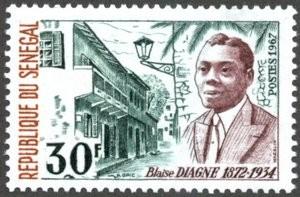 Timbre sénégalais à l'effigie de Blaise Diagne